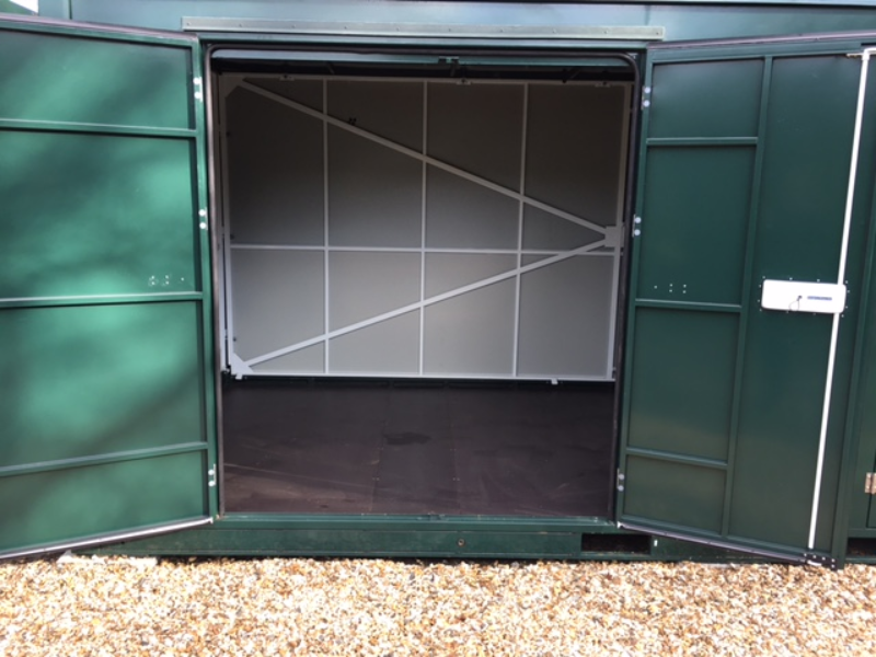 10ft self storage units container open