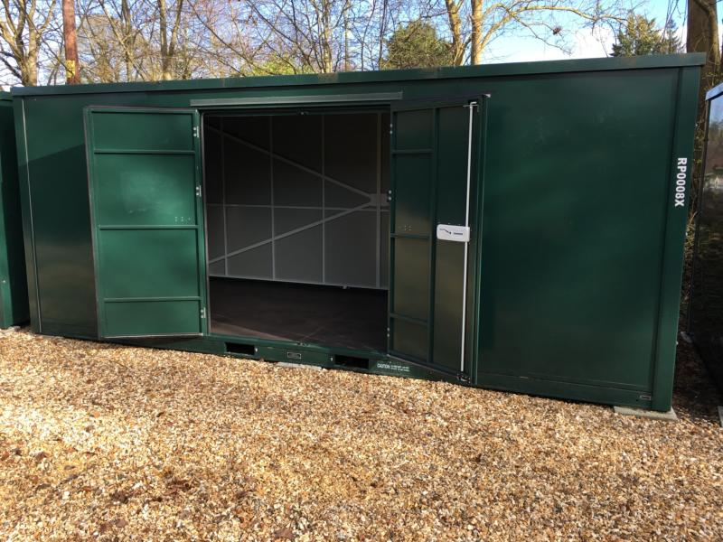 20ft Container self storage units open